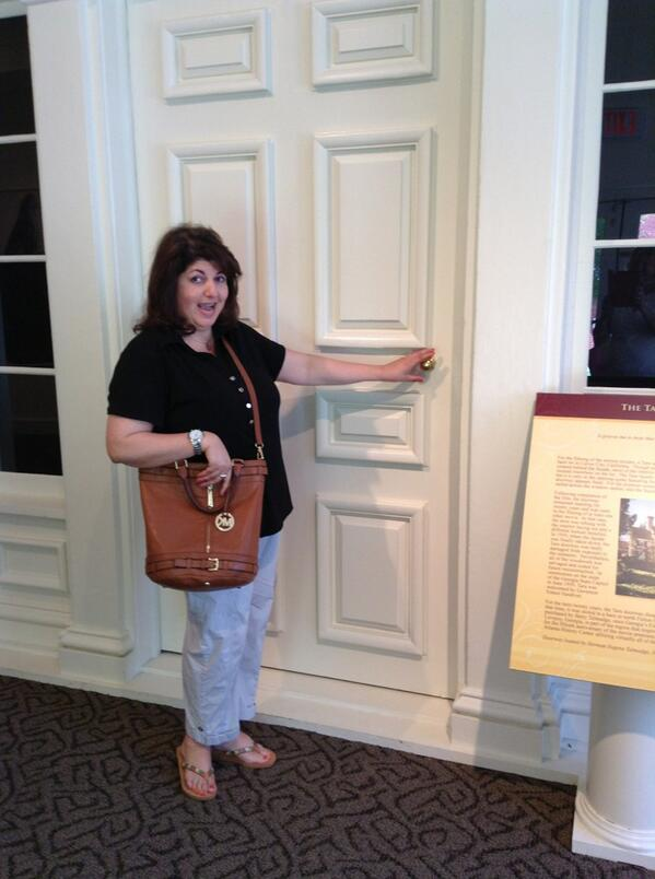 "That's me visiting Tara, the front door of the set used during the filming of ""Gone With the Wind."""