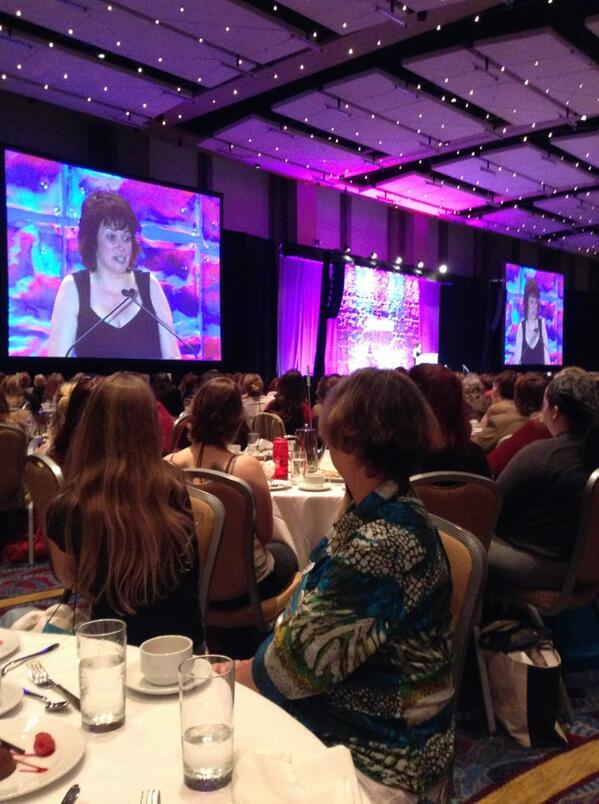 Author Kristan Higgins made us laugh and cry during her luncheon speech at the RWA conference.