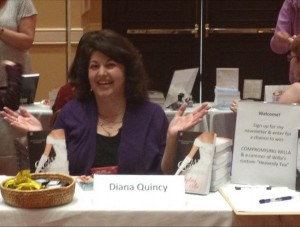That's me obviously enjoying myself at the New Jersey Romance Writers book signing in New Jersey.