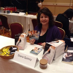 Me at the New Jersey Romance Writers Book Fair in Iselin.