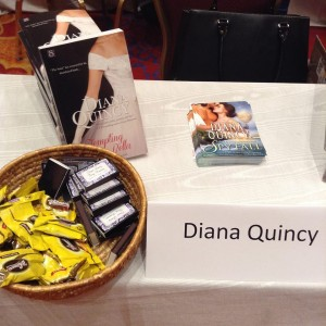 "I gave away some ""swag"", including custom matches, candy and postcards for SPY FALL, my newest release."