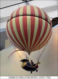 Hot air balloon similar to the one Mari flies