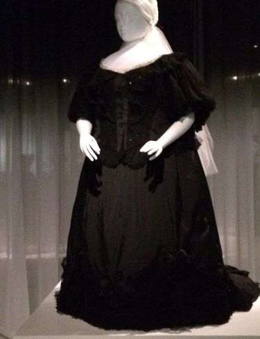 Mourning gown worn by Queen Victoria