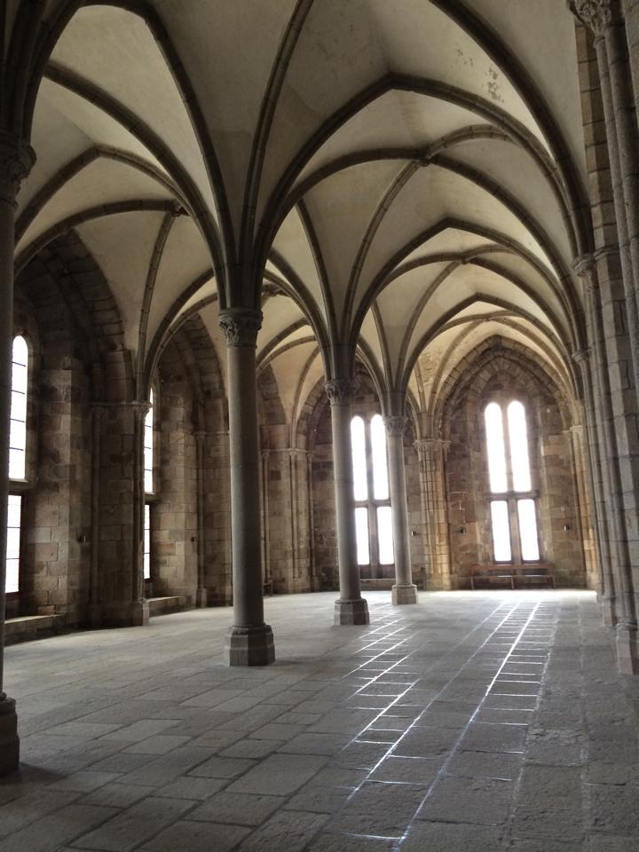 The spectacular gothic architecture practically glows under the natural light streaming in from the windows.